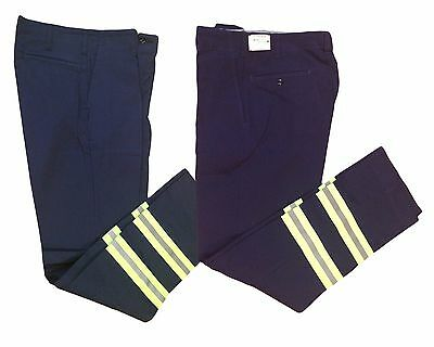 NEW! Work Pants Hi Vis 100% Cotton Reflective Enhanced Visibility Safety