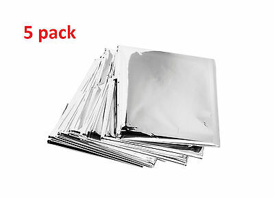 5pcs Lot Mylar Blankets Emergency Rescue Survival Camping deployment bag tool