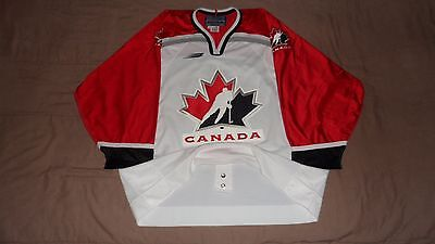 Team Canada White Nagano 1998 Olympics Authentic Bauer Hockey Jersey Size 52