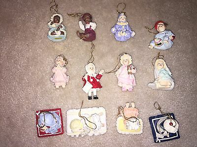 Lot Of 12 Ashton Drake Porcelain Heirloom Ornaments With Hanging Cords