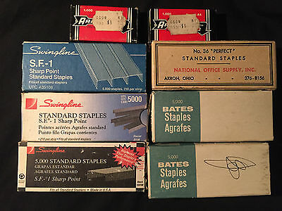 Vintage Staples~BATES~NATIONAL OFFICE SUPPLY~SWINGLINE~ARROW~Advertising Boxes