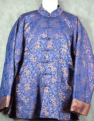 Chinese Men's Traditional Costume/Jacket/Clothing Navy Blue See Measurements