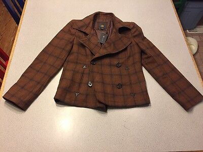 NEW OBR OUTBACK RED WOOL Jacket Coat $148 NWT Medium Brown Black WARM Lined