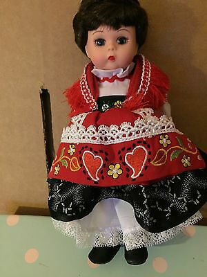"""Collectible doll by Madame Alexander """"Portugal"""" 2003 8"""" tall #35975"""