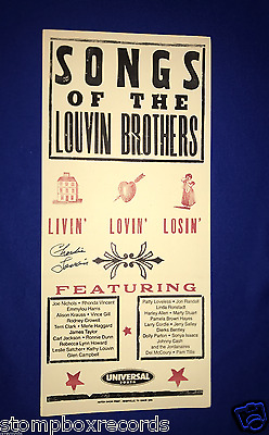 SIGNED Songs of Louvin Brothers CONCERT POSTER Ryman Auditorium Hatch Charlie