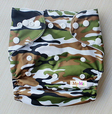Baby Boy Girl Cloth Diaper One Size Adjustable Hip Snaps Nappy Pocket Cover H12