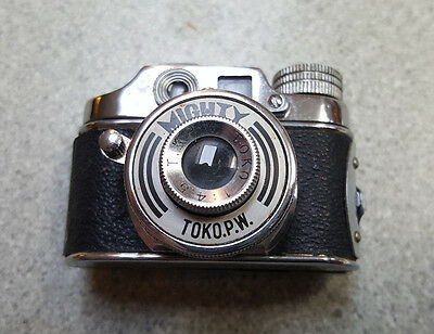 Vintage Subminiature Camera Mighty Toko.p.w. 1:45 Made In Occupied Japan W/case