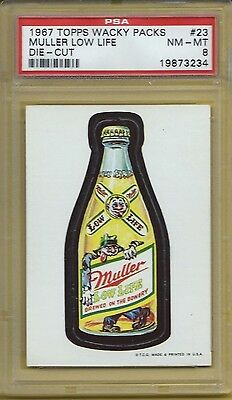 Wacky Packages 1967 Die Cut #23 Muller Beer Psa 8 Nmmt High End