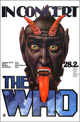 THE WHO 1976 Germany Concert Poster Kieser