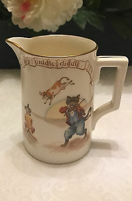 Royal Doulton Cat & The Fiddle Milk Jug/Pitcher  Series William Savage Cooper