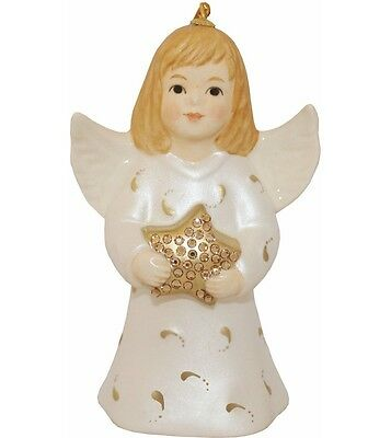 2016-40th Anniversary Goebel Annual Angel Bell Commemorative Edition-Pearl White