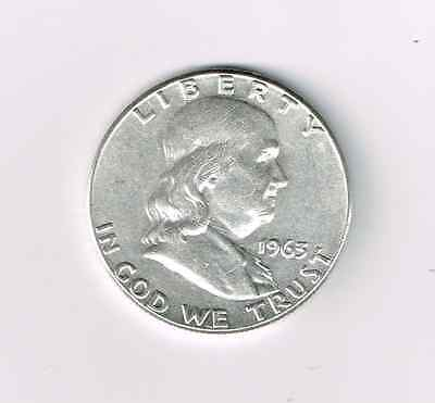 1963 50C Franklin Half Dollar