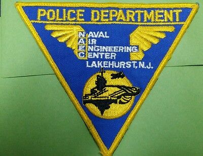 Naval Air Engineering Center Lakehurst, New Jersey Police Shoulder Patch Nj