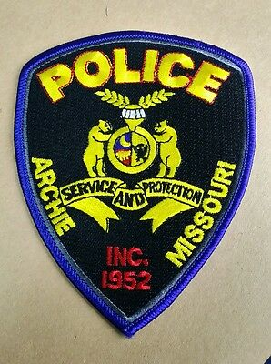 Archie, Missouri Police Shoulder Patch Mo