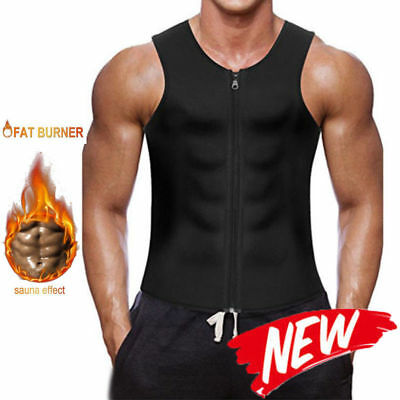 Faja Cami Men Body Shaper Neoprene Waist Trainer Sweat Hot Black Shapewear Belt
