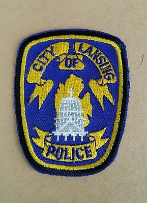 City Of Lansing, Michigan Police (Small) Shoulder Patch Mi