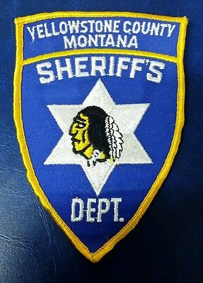Vintage Yellowstone County, Montana Sheriff Police Shoulder Patch Mt