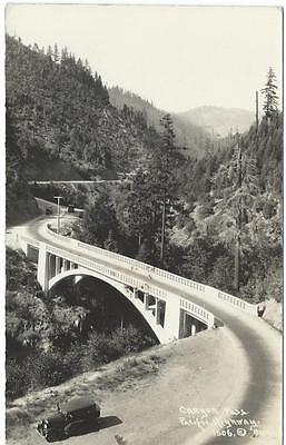 Canyon Pass Pacific Highway Real Photo RPPC Postcard