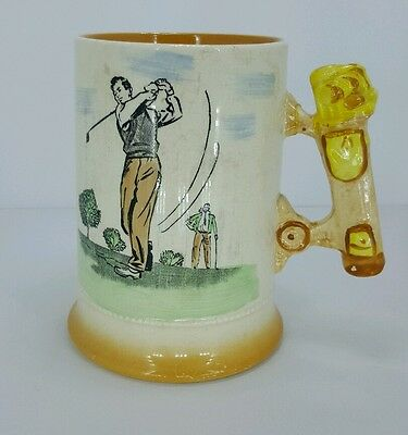 Arthur Wood Royal Bradwell Golf Mug Bag Handle 1954