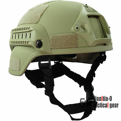 US Army Tactical MICH2000 Helmet Simplified Action 0.7 Kg Version Airsoft