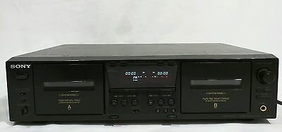 SONY TC-WE 475 STEREO CASSETTE DECK Dual Tape Player Recorder Touch Button