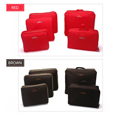 5pcs Packing Cube Pouch Travel Clothes Suitcase Storage Bags Luggage Organizer U