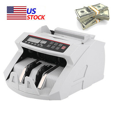 New Money Bill Cash Counter Bank Machine Currency Counting UV & MG Counterfeit G