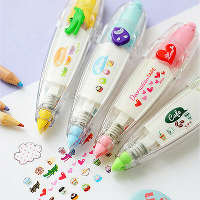 Correction Tape Pen Kid Stationery Decor Tapes Paster Label Tape Sticker Paper