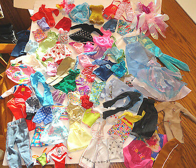 Large Lot of Vintage Barbie Doll Clothes - Some w/ labels