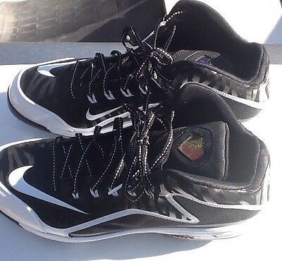 Brand New Men's Size 11 Nike Air Swingman 2 Mvp Mid Black Metal Baseball Cleats
