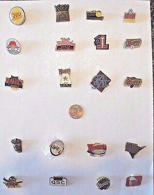 Wendy's Lapel Pin Lot of 20