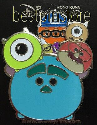 Disney pin HKDL - Monsters Inc Tsum Tsum Pin - Sulley Mike & Friends