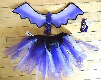 OLD NAVY Halloween WITCH Costume Girls Size 5 6 Tutu Wings Accessories Bat NWT