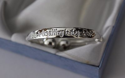 Gorgeous Baby Girls Healthy Baby Silver Plated Adjustable Ball Style Bangle