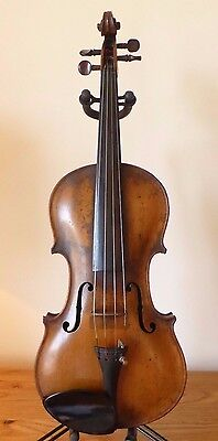 "OFFER INVITED - FINE ANTIQUE c19th violin GERMAN 4/4  lob 13 7/8"" case"