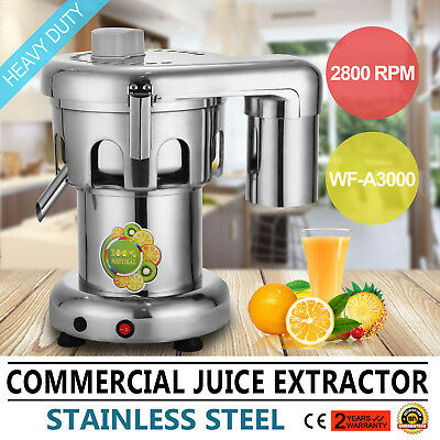 Heavy Duty Fruit Power Juicer Juice Extractor 2800RPM Food Grade Stainless Steel