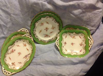 20th CENTURY COALPORT 6698 PATTERN CAKE PLATES & VEGETABLE DISHES [6 IN TOTAL]