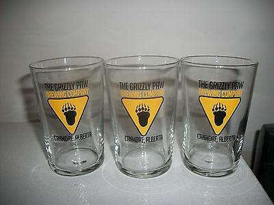 3- The Grizzly Paw-Canmore Alberta-Sampler  Beer Glasses
