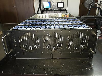 Chenbro 48 Bay Top Loader 4U Chassis w/Rail Kit+Drive Brackets COMPLETE SYSTEM!