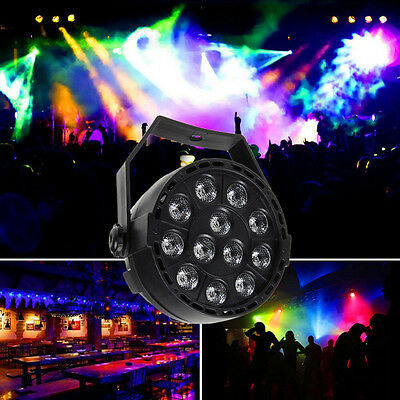 8CH DMX-512 12 RGB LED Stage Strobe Light Lighting Laser Projector Party Club DJ