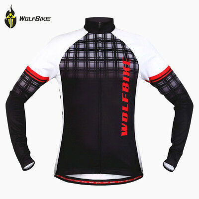 Men's Winter Fleece Thermal Cycling Jersey Jackets Riding Sports Chest 41 Inch