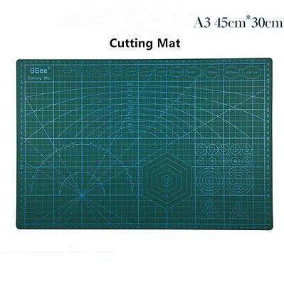 PVC A3 5Ply Double Sided Eco Friendly Not Slippery Durable Cutting Mat 45x30CM
