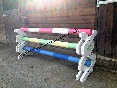 horse show jumps, cavaletti set of 3, trotting poles by BRISTOL SHOW JUMPS (TT)