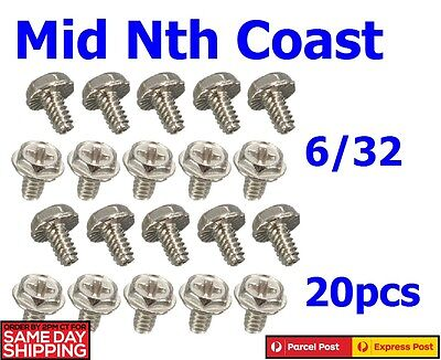20pcs Toothed Hex/Phillips Head 6/32 Hard Drive Motherboard Mounting Screws