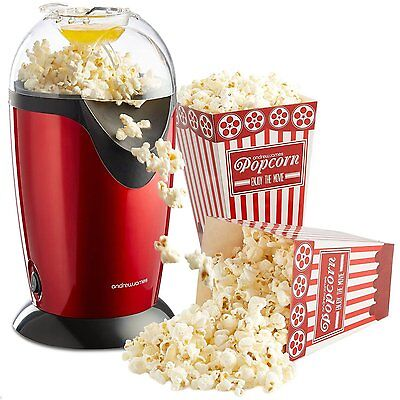 1200W Electric Hot Air Healthy Popcorn Popper Maker Machine In Red Free Shipping