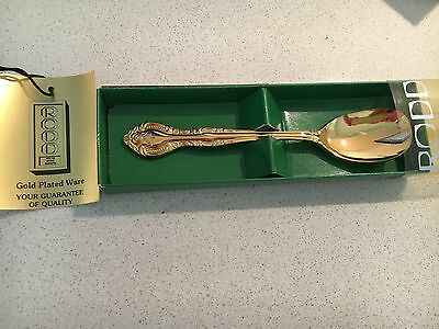 Vintage Rodd 24 Carat Gold Plated Teaspoon In Box Collectible