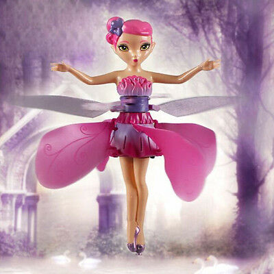 Flying Fairy Flutterbye Flower Fairy Doll Girls Interactive Toy Perfect Gift HR