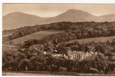 Abbotsford And The Eildons ~ A Vintage Rp Postcard By A. R. Edwards & Son, Selki
