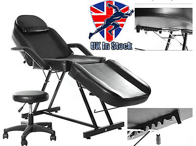Deluxe Beauty Salon Chair Balance Massage  Tattoo Facial Couch Bed Couch Stool