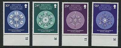 British Antarctic Territory: 1986 Glaciological set of 4 SG151-154 MNH XX257
